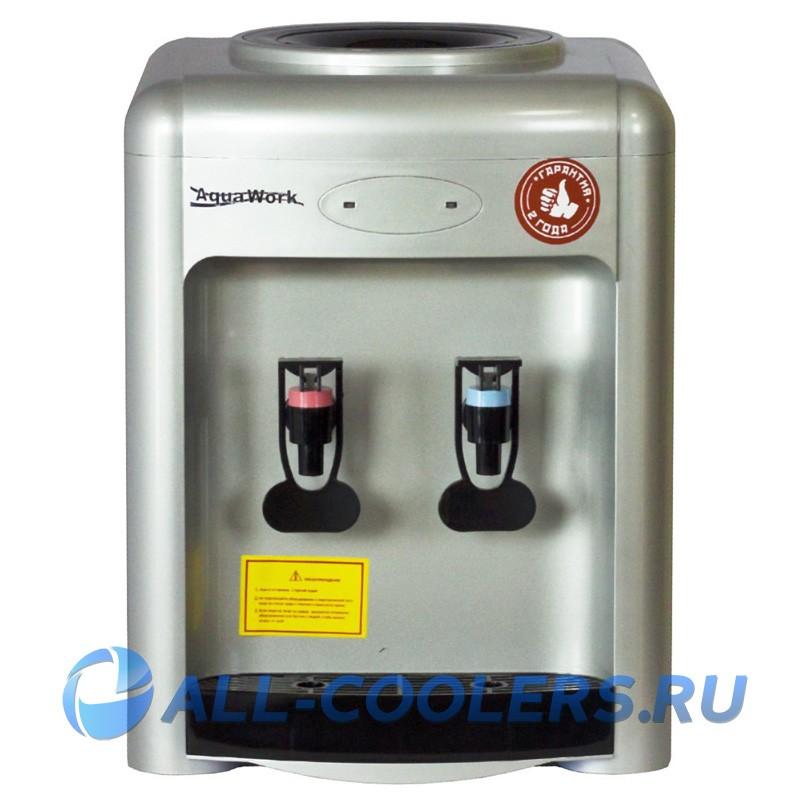 Кулер для воды без охлаждения настольный Aqua Work 36-TKN серебро