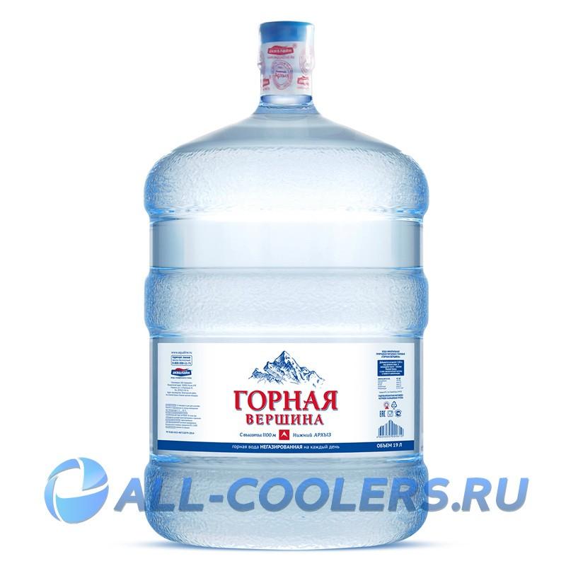 dd2db6ae4f7de Питьевая вода «Горная вершина» 19 литров